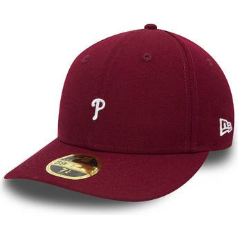 Gorra curva violeta ajustada 59FIFTY Low Profile Mini Logo de Philadelphia Phillies MLB de New Era