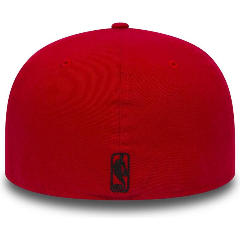 Gorra plana roja ajustada 59FIFTY Chain Stitch de Chicago Bulls NBA ... 8d4223f1d9d