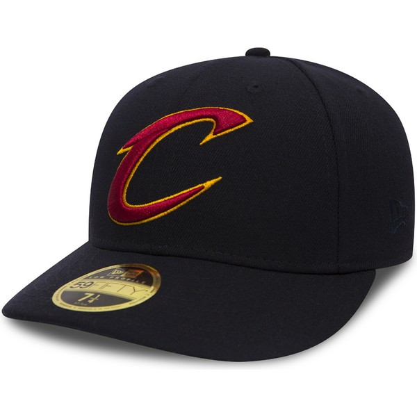 Gorra curva negra ajustada 59FIFTY Low Profile Team Classic de ... 876a8519d58