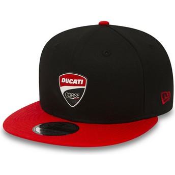 Gorra plana negra snapback 9FIFTY Snaparch de Ducati Motor MotoGP de New Era