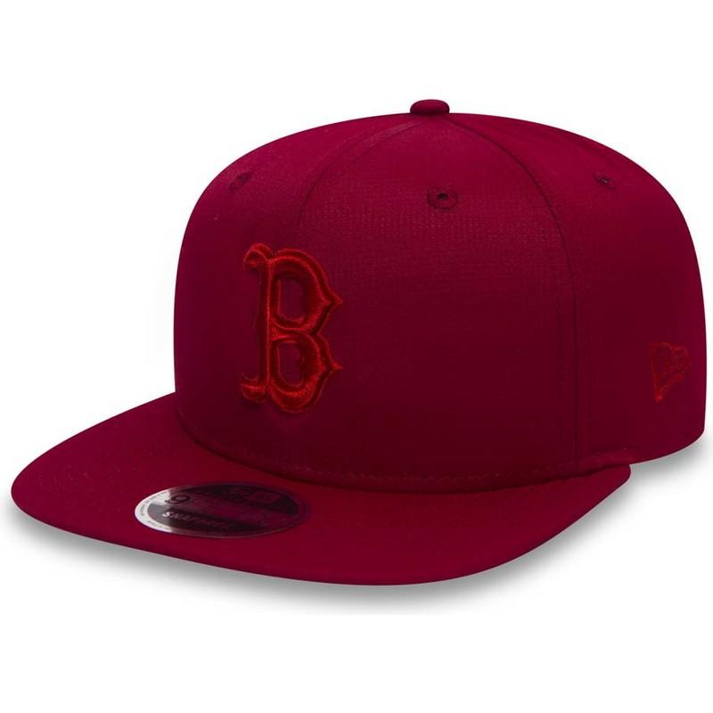 Gorra plana roja snapback con logo rojo 9FIFTY Nano Ripstop de ... efddbf1aa8f