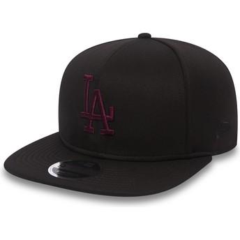 Gorra plana negra snapback con logo rojo 9FIFTY Jersey Tech de Los Angeles  Dodgers MLB de 7fb7d2d865a