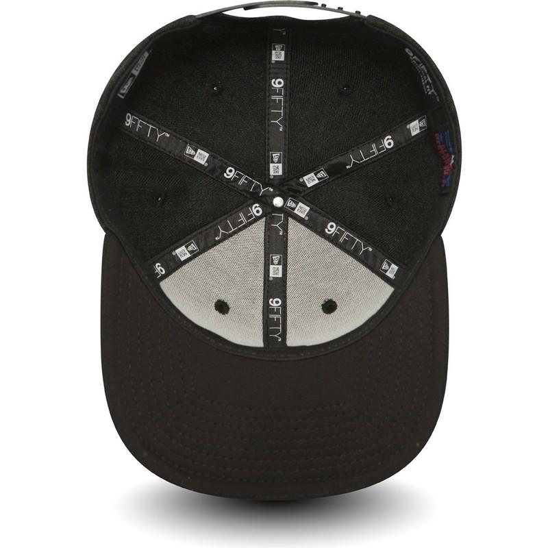 6e8ef5dda6a4f Gorra plana negra snapback con logo negro 9FIFTY Seasonal Heather de ...