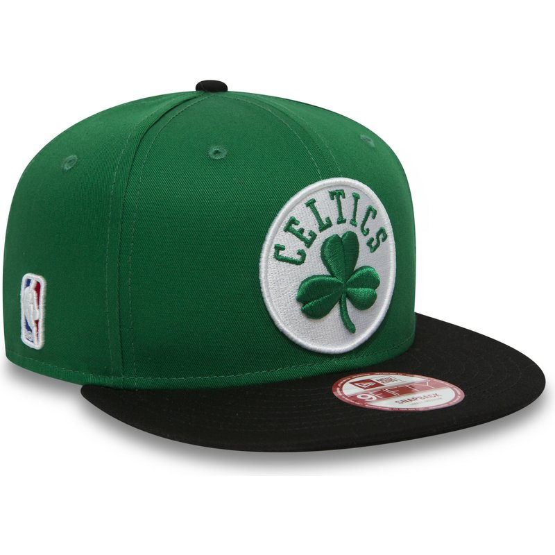 352a51d432dd6 Gorra plana verde y negra snapback 9FIFTY de Boston Celtics NBA de ...