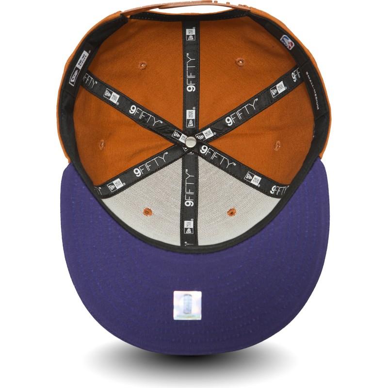 94df54d217c6d Gorra plana naranja y violeta snapback 9FIFTY de Phoenix Suns NBA de ...