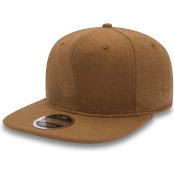 Gorra plana marrón ajustable 9FIFTY Premium Classic de New Era