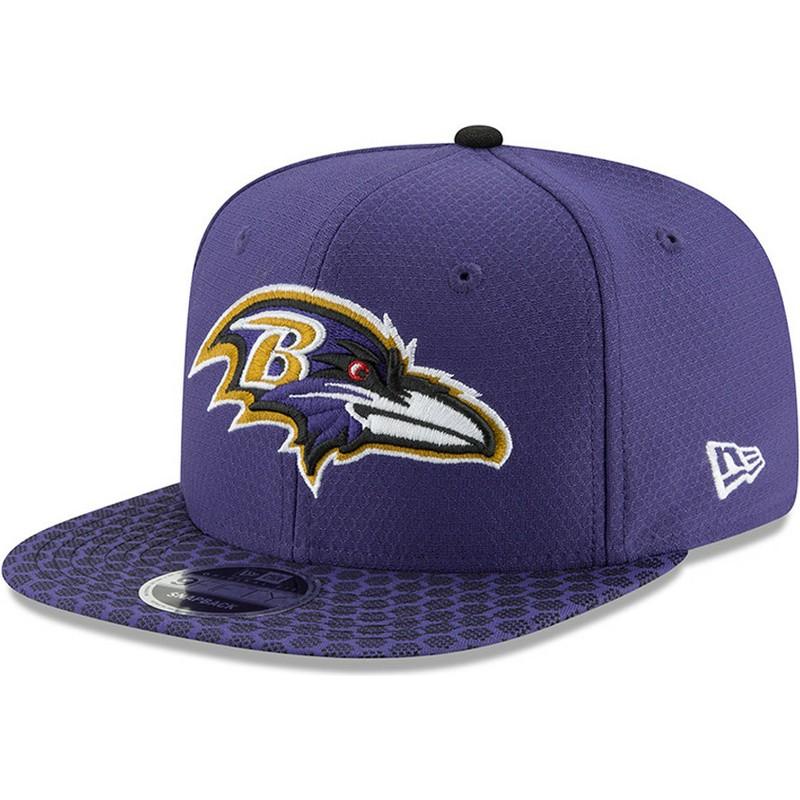 Gorra plana violeta snapback 9FIFTY Sideline de Baltimore Ravens NFL ... c8cb961bb89