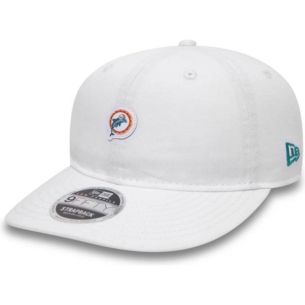 gorra-plana-blanca-snapback-9fifty-low-profile-unstructured-de-miami-dolphins-nfl-de-new-era