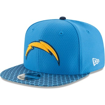 Gorra plana azul snapback 9FIFTY Sideline de San Diego Chargers NFL de New Era