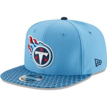 Gorra plana azul snapback 9FIFTY Sideline de Tennessee Titans NFL de New Era