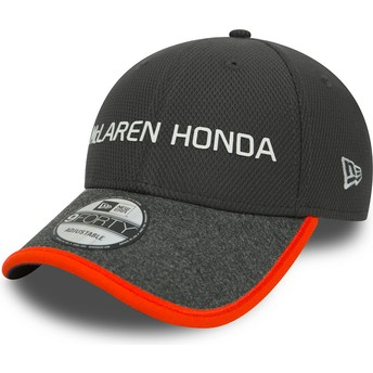 Gorra curva gris ajustable 9FORTY de McLaren Racing Formula 1 de New Era
