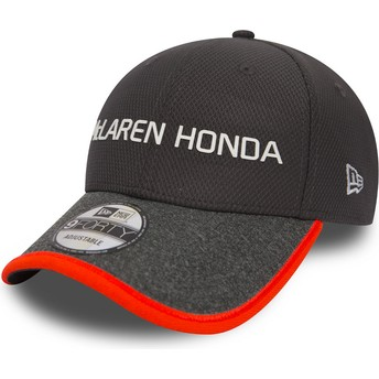 Gorra curva gris ajustable 9FORTY Fernando Alonso de McLaren Racing Formula 1 de New Era