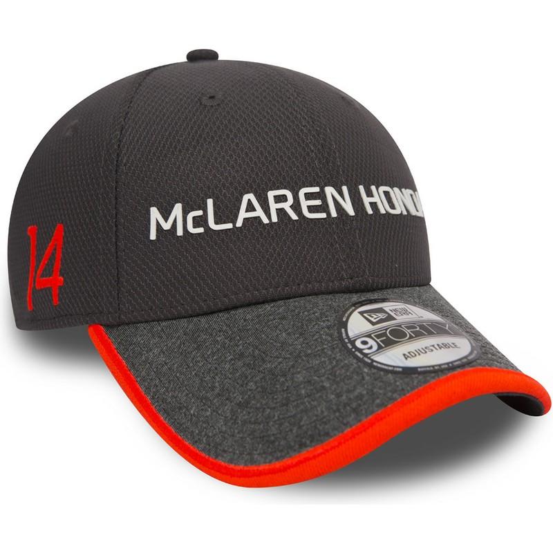 diseño exquisito estilo máximo producto caliente Gorra curva gris ajustable 9FORTY Fernando Alonso de McLaren Racing Formula  1 de New Era