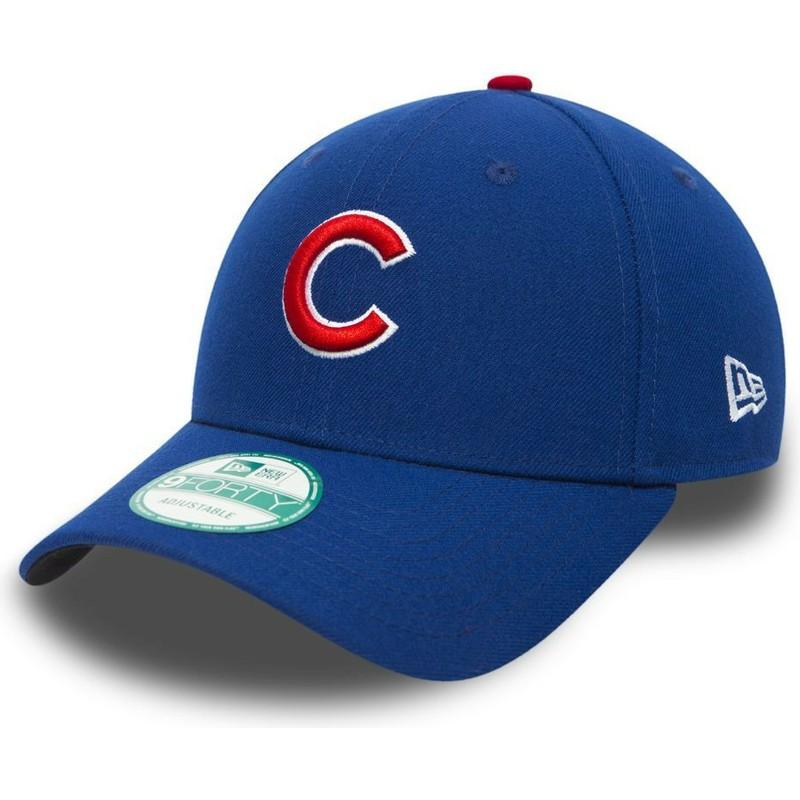 c44dea2df7bf2 Gorra curva negra ajustable 9FORTY The League de Chicago Cubs MLB de ...