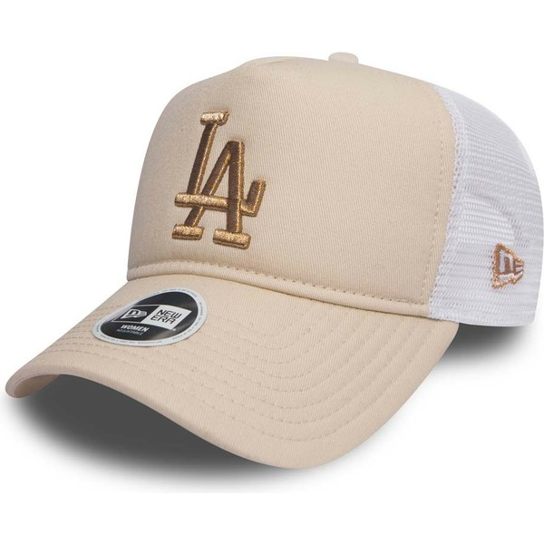gorra-trucker-rosa-con-logo-bronce-9forty-essential-de-los-angeles-dodgers-mlb-de-new-era
