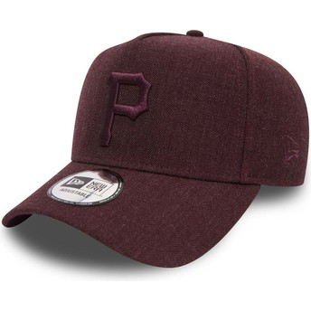 Gorra curva granate ajustable con logo granate 9FORTY Seasonal Heather A Frame de Pittsburgh Pirates MLB de New Era