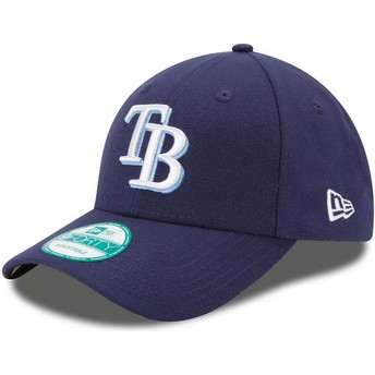 Gorra curva azul marino ajustable 9FORTY The League de Tampa Bay Rays MLB de New Era