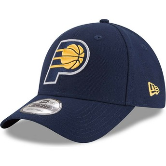 Gorra curva azul marino ajustable 9FORTY The League de Indiana Pacers NBA de New Era