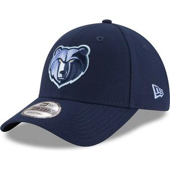 Gorra curva azul ajustable con logo bordado 9FORTY The League de Memphis Grizzlies NBA de New Era