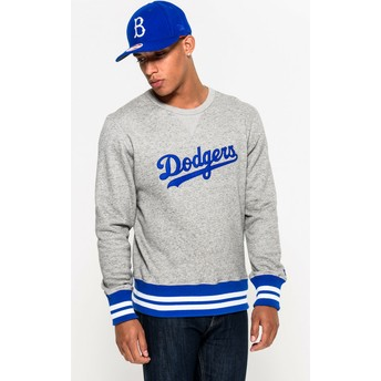 Sudadera gris Crew Neck Heritage de Brooklyn Dodgers MLB de New Era
