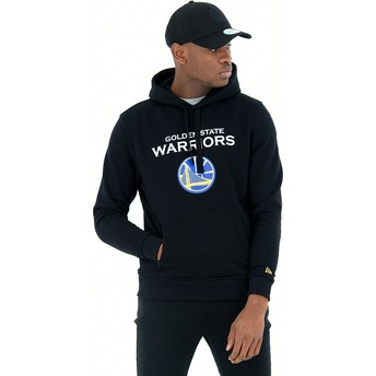 Sudadera con capucha negra Pullover Hoody de Golden State Warriors NBA de New Era