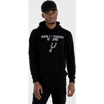 Sudadera con capucha negra Pullover Hoody de San Antonio Spurs NBA de New Era