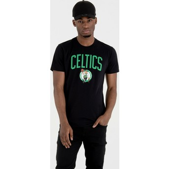 Camiseta manga corta negra de Boston Celtics NBA de New Era