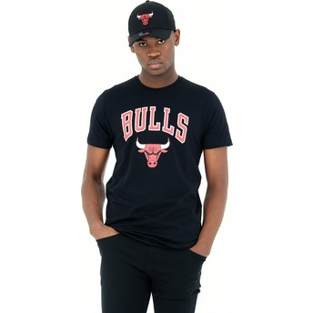 Camiseta manga corta negra de Chicago Bulls NBA de New Era