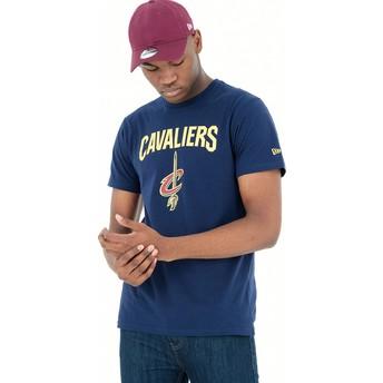 Camiseta manga corta azul de Cleveland Cavaliers NBA de New Era