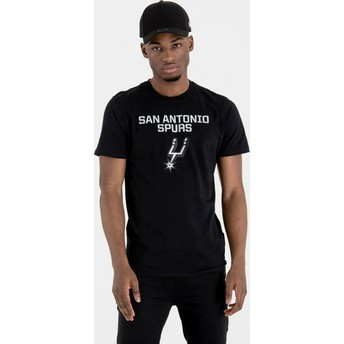Camiseta manga corta negra de San Antonio Spurs NBA de New Era