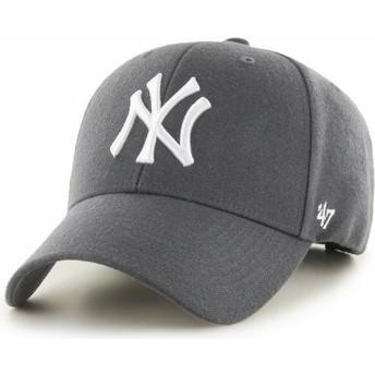 Gorra curva gris oscuro de New York Yankees MLB MVP de 47 Brand