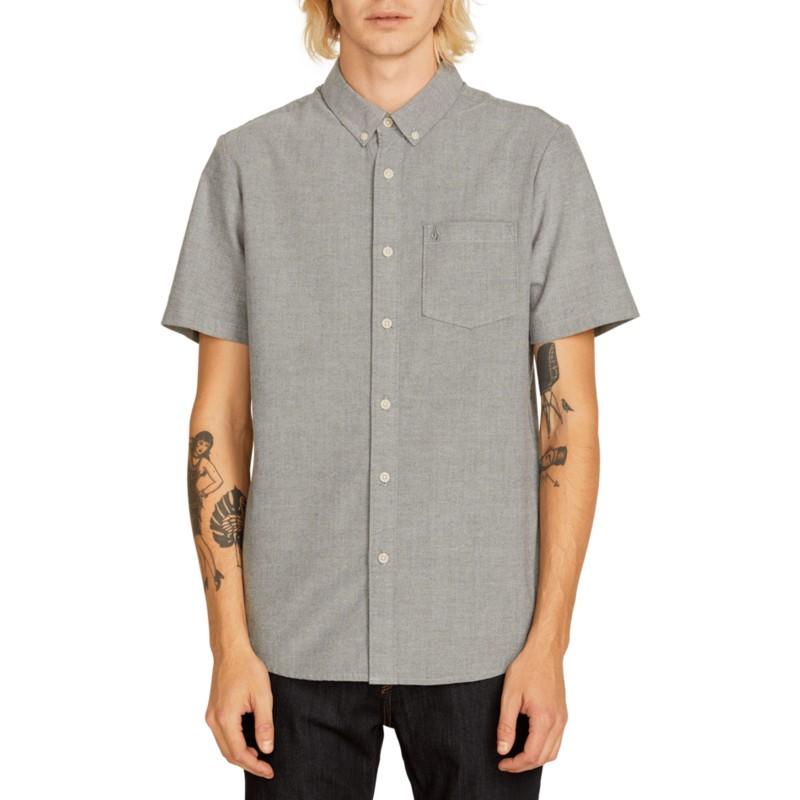 96060e50a Camisa manga corta gris Everett Oxford Black de Volcom  comprar ...
