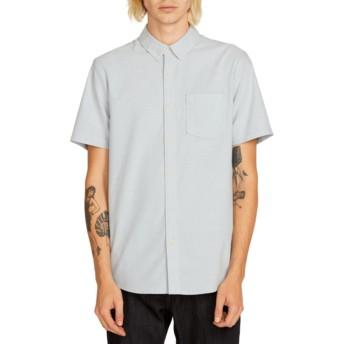 Camisa manga corta azul Everett Oxford Wrecked Indigo de Volcom
