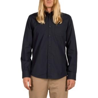 Camisa manga larga azul marino Everett Solid Navy de Volcom