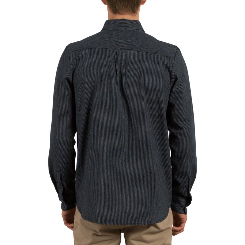 8d06030e3a2be Camisa manga larga azul marino Crowley Indigo de Volcom  comprar ...