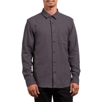 Camisa manga larga negra Caden Solid Asphalt Black de Volcom