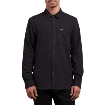 Camisa manga larga negra Caden Solid Black de Volcom