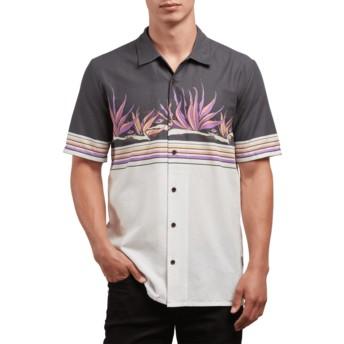 Camisa manga corta blanca y negra Algar White Flash de Volcom