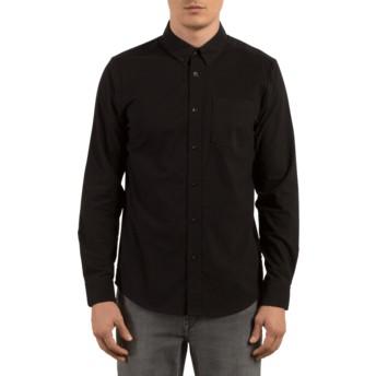 Camisa manga larga negra Oxford Stretch Black de Volcom