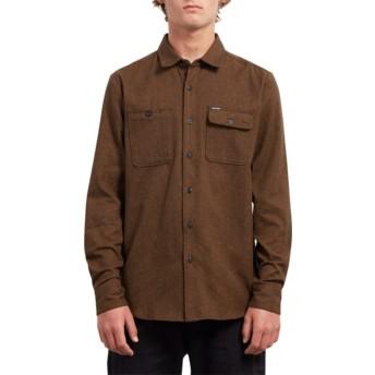 Camisa manga larga marrón Hickson Update Hazelnut de Volcom