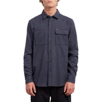 Camisa manga larga azul marino Hickson Update Midnight Blue de Volcom