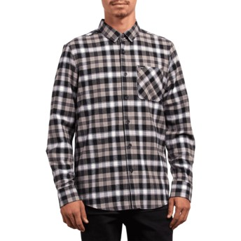 Camisa manga larga negra a cuadros Caden Plaid Black de Volcom