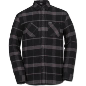 Camisa manga larga negra a cuadros Shader Black de Volcom