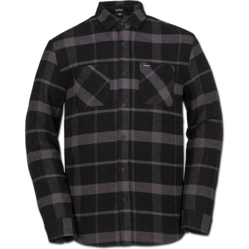 Camisa manga larga negra a cuadros Shader Black de Volcom  comprar ... b376eebbdb75d
