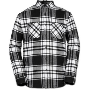 Camisa manga larga blanca y negra a cuadros Shader White de Volcom
