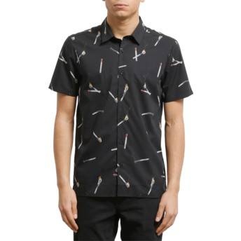 Camisa manga corta negra Waits Black de Volcom