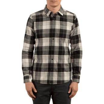 Camisa manga larga gris y negra a cuadros Caden Cloud de Volcom