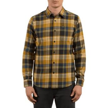 Camisa manga larga marrón a cuadros Caden Caramel de Volcom