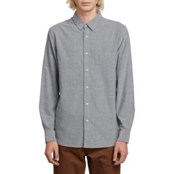 Camisa manga larga gris Oxford Stretch Black de Volcom