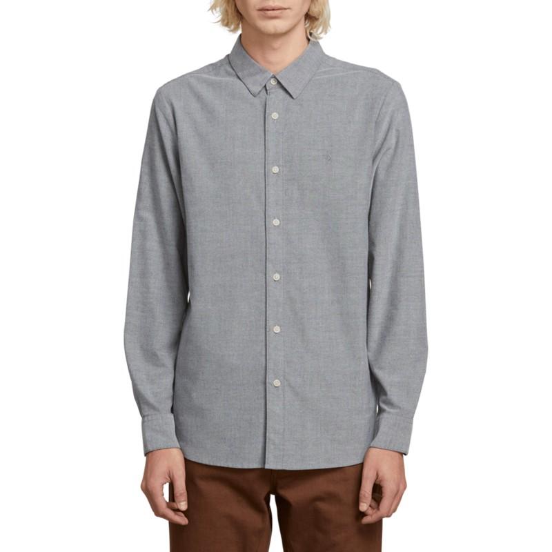 665d9513e Camisa manga larga gris Oxford Stretch Black de Volcom  comprar ...